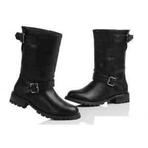 Black Women's Motorcycle Boots
