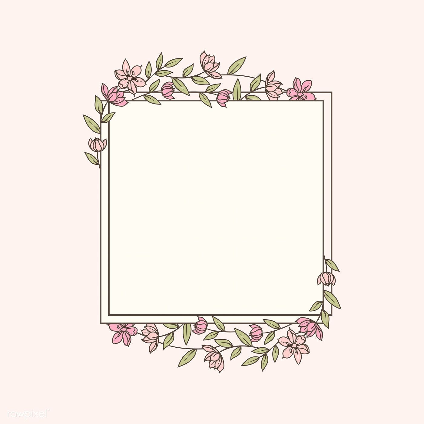 Frame decorated with flowers vector