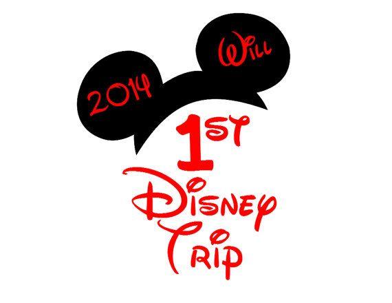 Custom 1st Disney Trip Iron on Transfer by AreWeThereYetDesigns