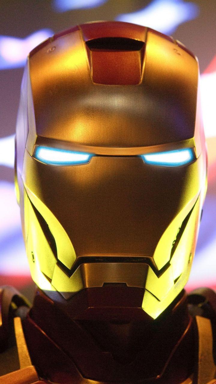 iron man, suit, helmet, 2018, 720x1280 wallpaper   superhero
