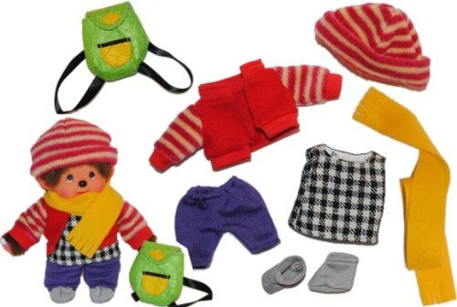 8 Tlg Set Puppenkleidung Monchhichi Fleece Wintersachen Kleidung