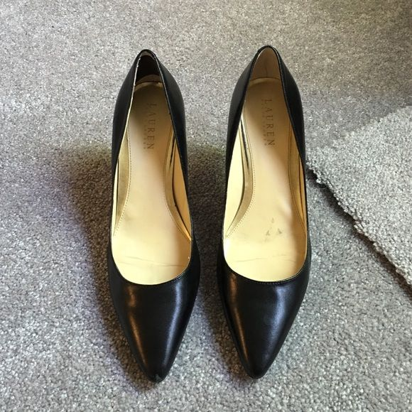 Ralph Lauren pointed toe heels Heels are worn but still usable. I put pictures of all scratches and wear on the heels. Ralph Lauren Shoes Heels