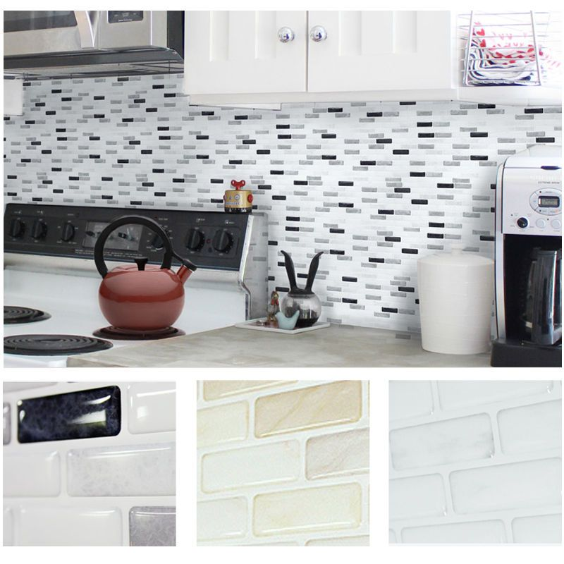 Home Decor Brick Mosaic Kitchen Bathroom Foil Beauty 3D