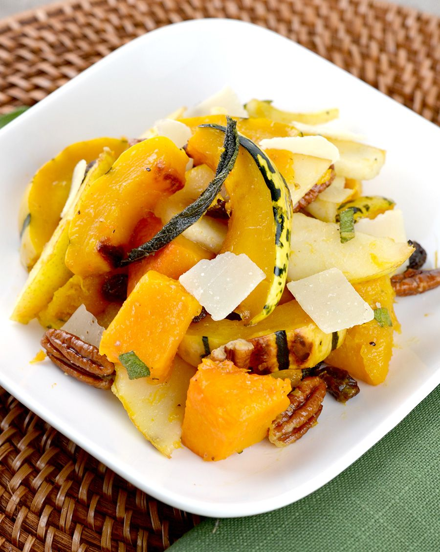Winter Squash Salad With Brown Butter Apple Cider Dressing Recipe Winter Salad Healthy Squash Salad Winter Squash