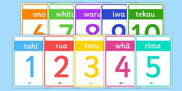 * NEW * Numbers 1-10 Cards Te Reo Maori