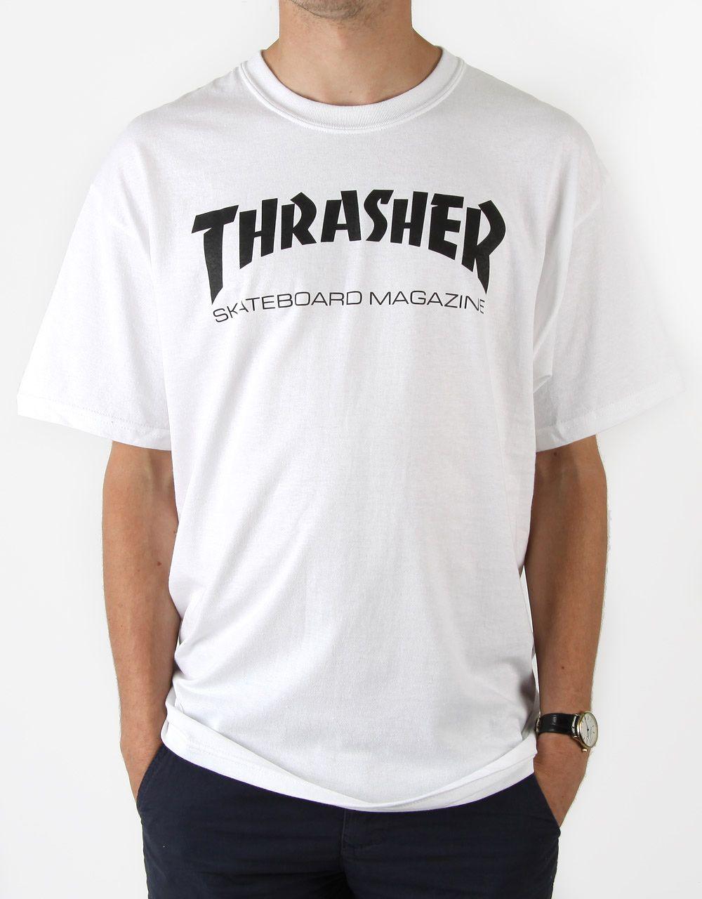 b9d0de4a Thrasher Skate Mag T-Shirt - White   Christmas list 2018   Thrasher ...
