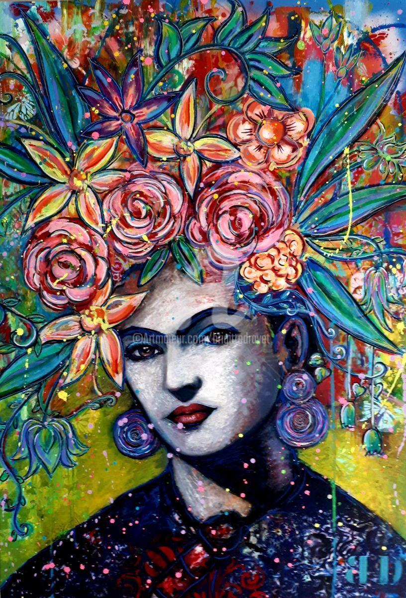 Peinture par Brigitte Dravet (France)   Artmajeur   Frida ...