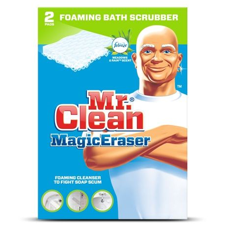 Mr Clean Magic Eraser Foaming Bath Scrubber With Febreze Meadows And Rain