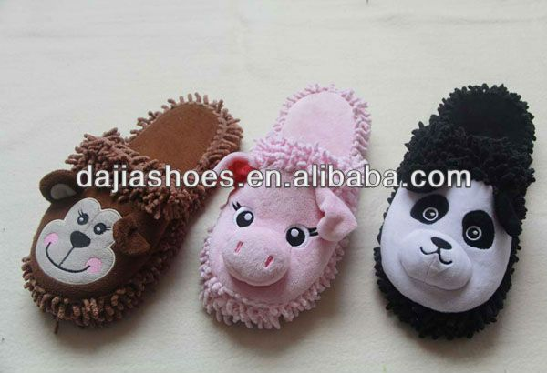 indoor animal slippers   1)cute,warm,lovely and comfortable;  2)super quality and resonable price;  3)lovely animal design.