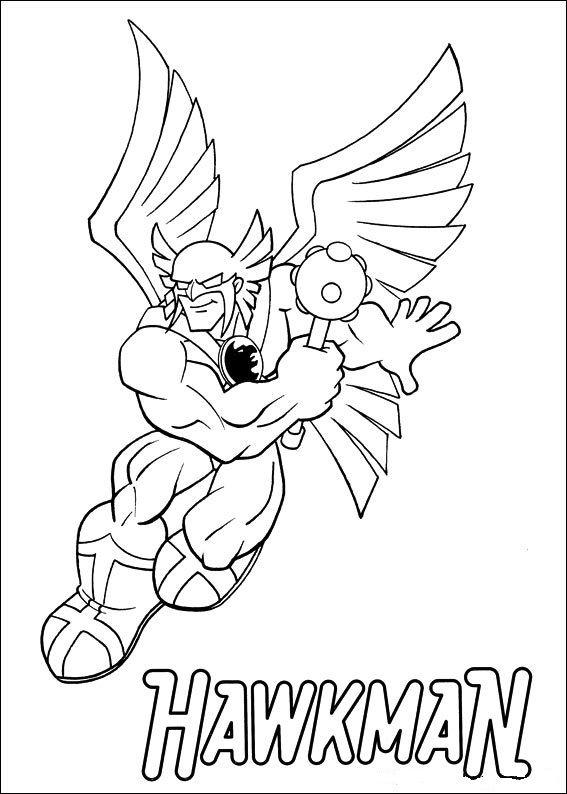 Tegninger til Farvelægning Super Friends 8