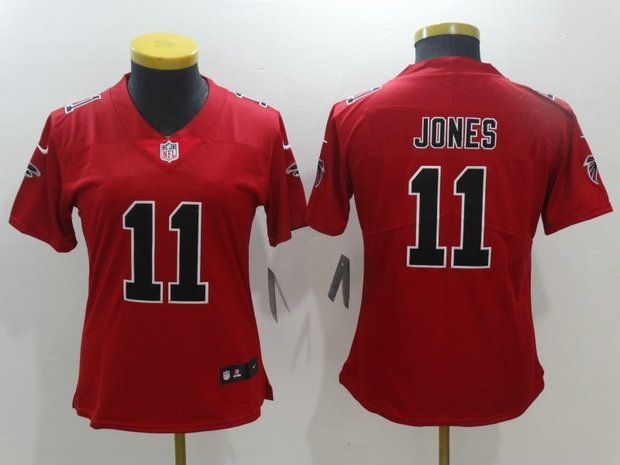 Women Atlanta Falcons 11 Julio Jones Red Rush Limited Jersey ... 865c0cd0d