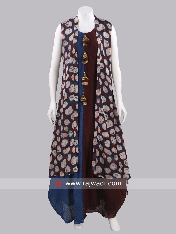 Printed asymmetric long kurti dress in pinterest