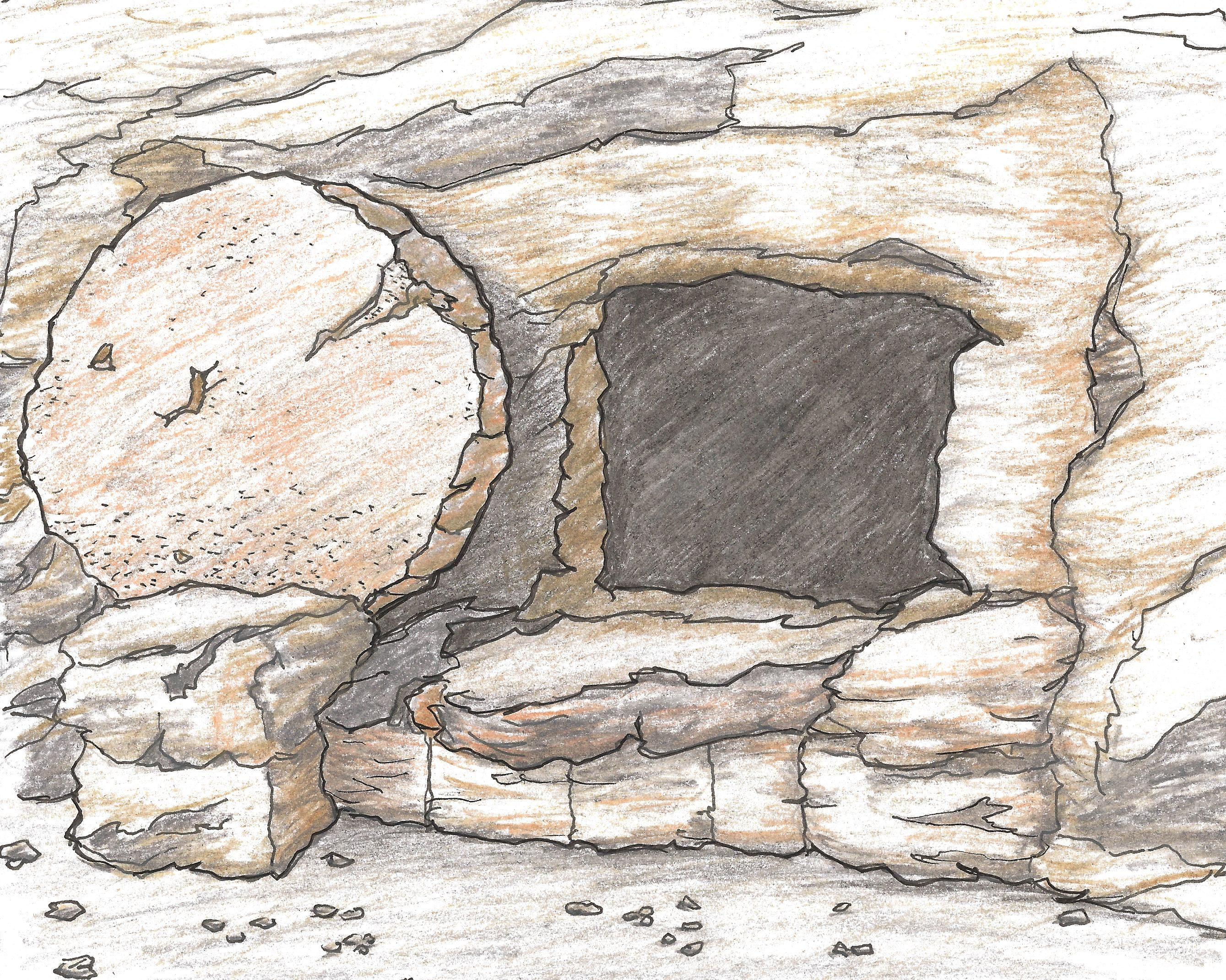 Free coloring pages empty tomb