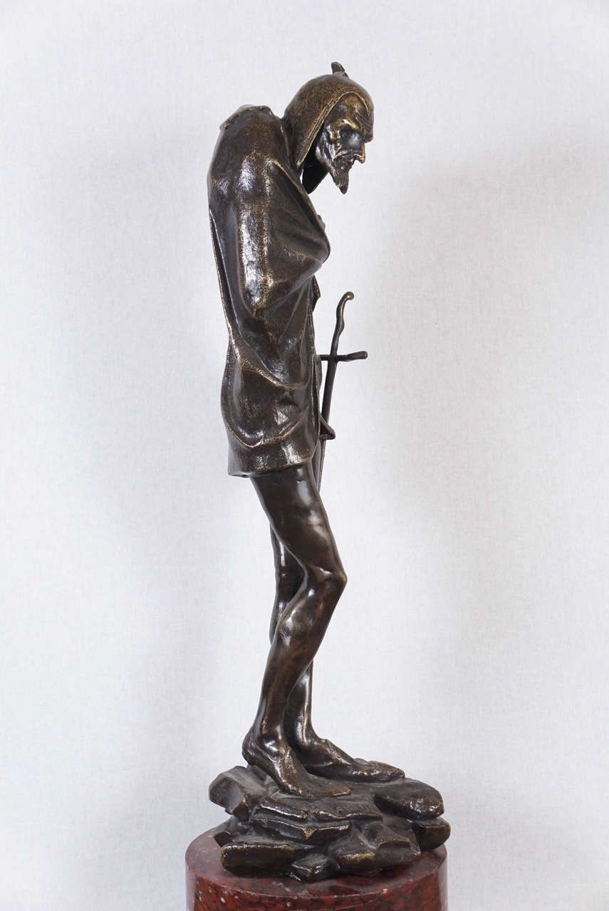 Bronze Statue of Mephistopheles by Jacques Louis Gautier | From a unique collection of antique and modern sculptures at https://www.1stdibs.com/furniture/more-furniture-collectibles/sculptures/