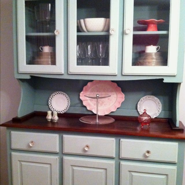 This Is My Dining Room Hutch I Recently Painted The Paint Duck Egg Blue