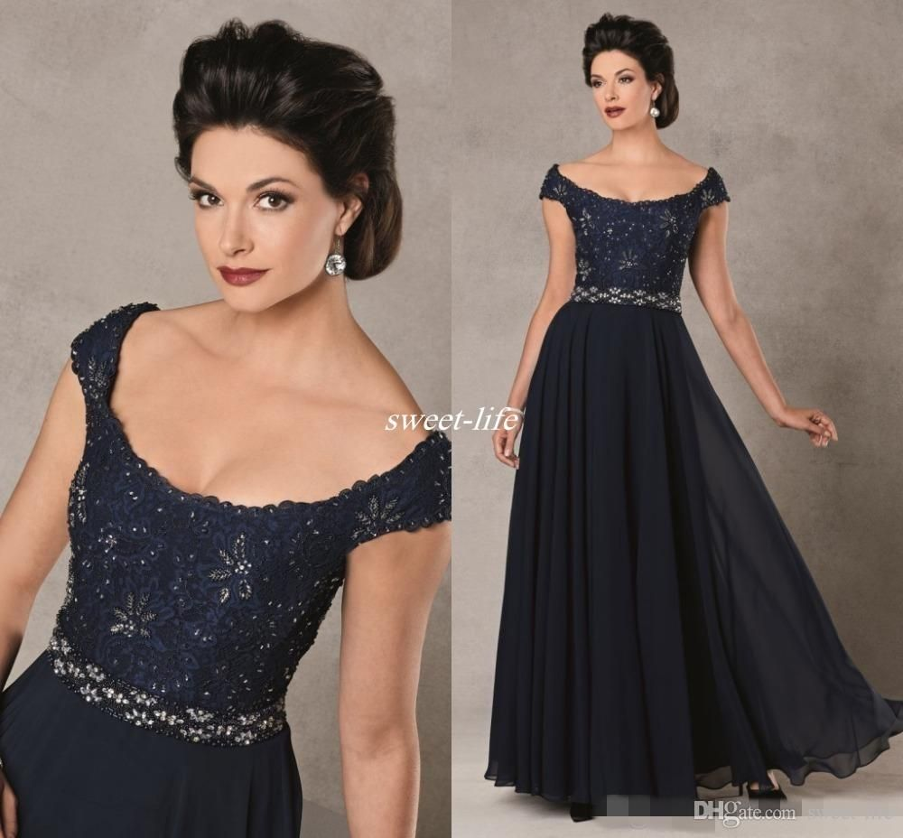 Elegant Navy Blue Wedding Mother of the Bride Groom ...