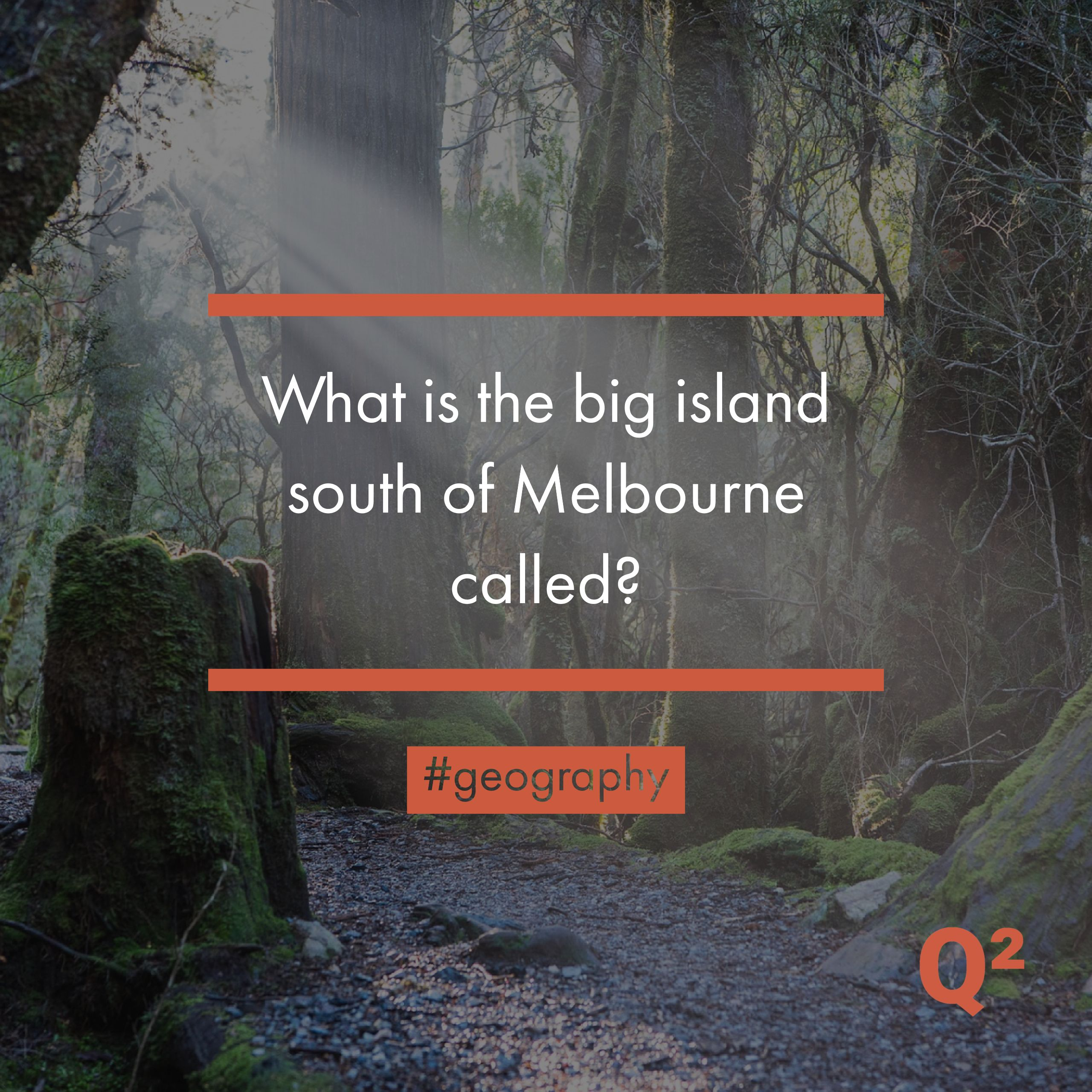 What is the big island south of Melbourne called? travel