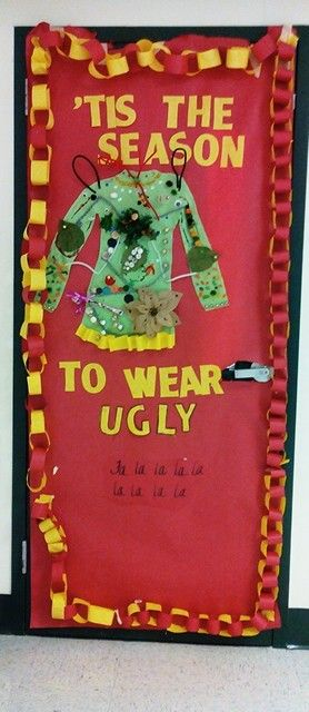 ugly sweater door 2 classroom door decorations christmas door decorations classroom walls classroom