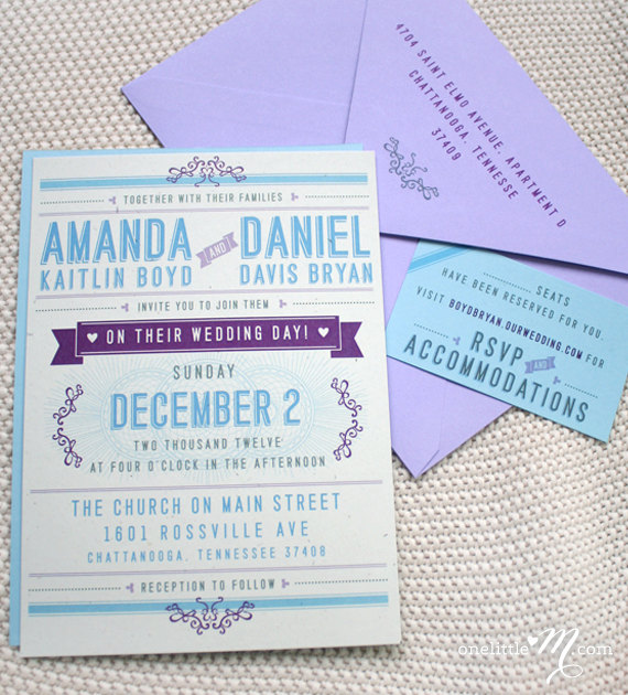 Playbill Modern Wedding Invitation Suite. $6.00, via Etsy. | Diseño ...