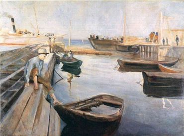 Edvard Munch - Arrival of the Mail Boat (also known as The Steamboat Arrives), 1890..jpg