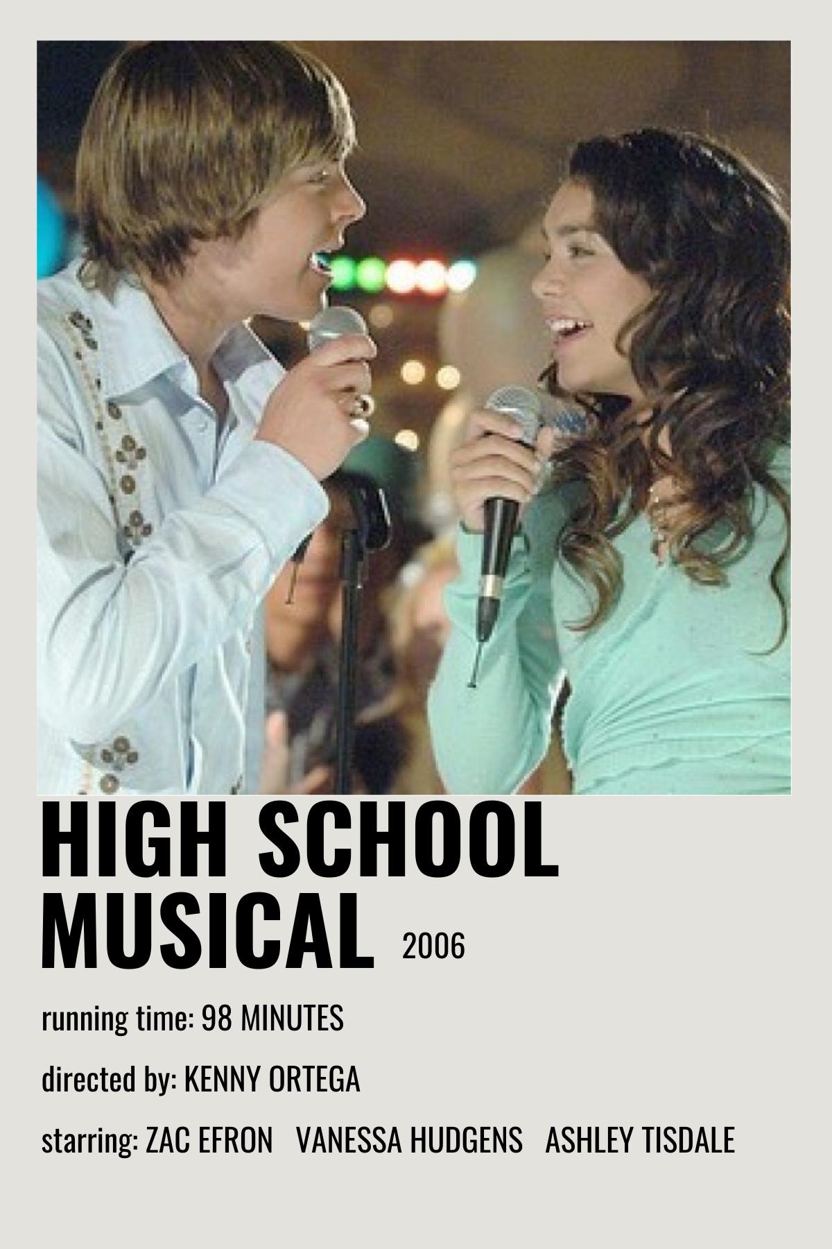 high school musical movie poster