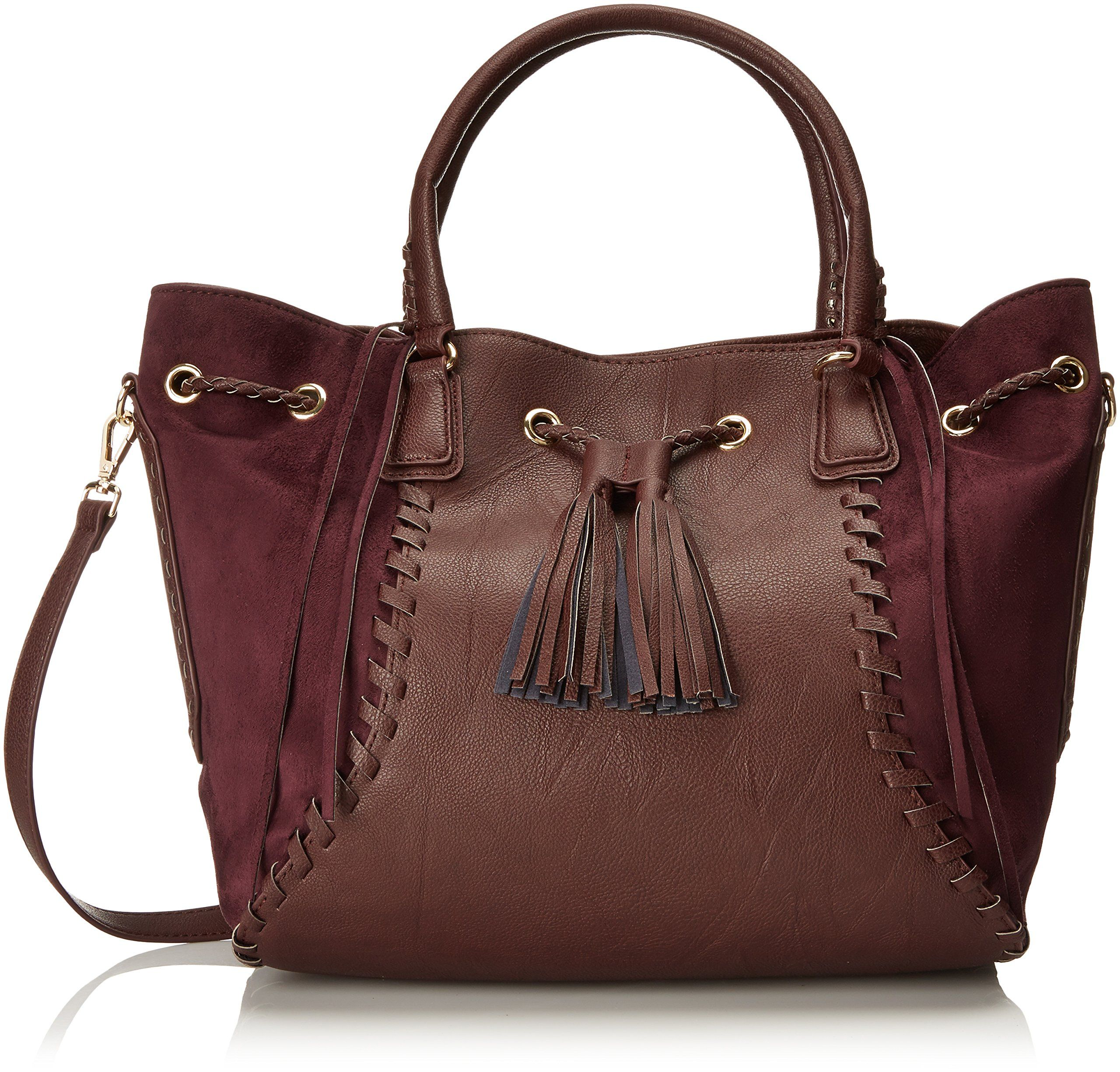 0b7341102a88 Big Buddha Handbags Bristow Satchel With Crossbody Strap - Cognac  Handbags   Amazon.com