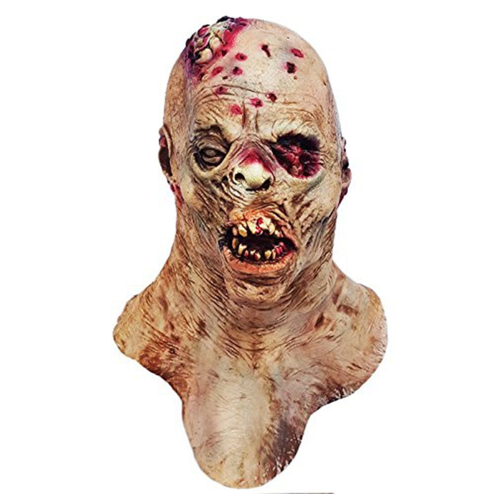 details about biochemical monster scary zombie head mask bloody