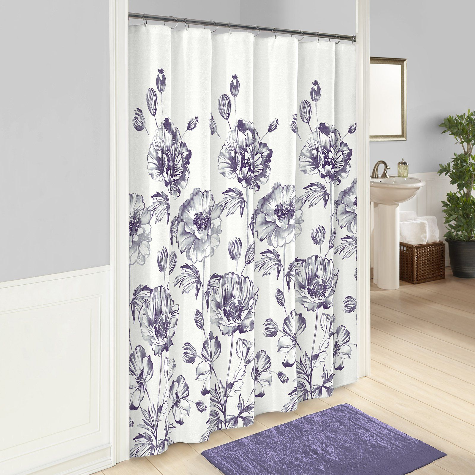 Jasmeen Shower Curtain By Marble Hill Shower Curtains Walmart
