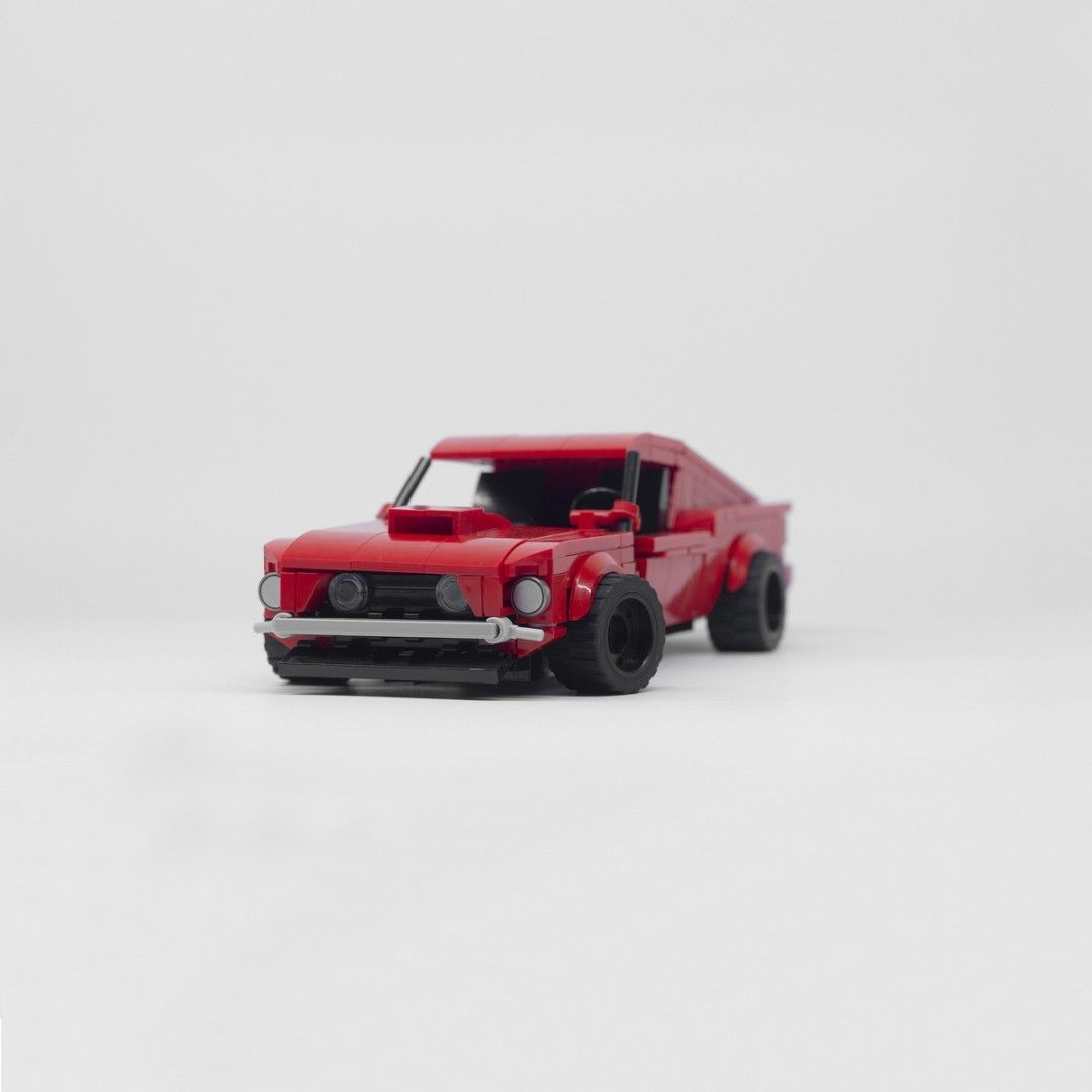 Lego Ford Mustang Fastback 1969 429 Boss Red Coyote Engine Custom