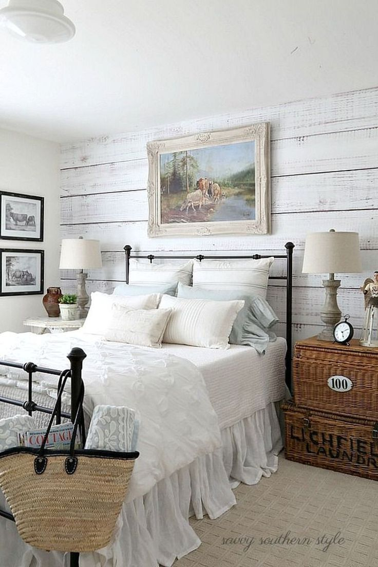 Guest Bedroom Decor Ideas Fair Classic And Vintage Farmhouse Bedroom Ideas 47  Vintage Farmhouse Decorating Inspiration