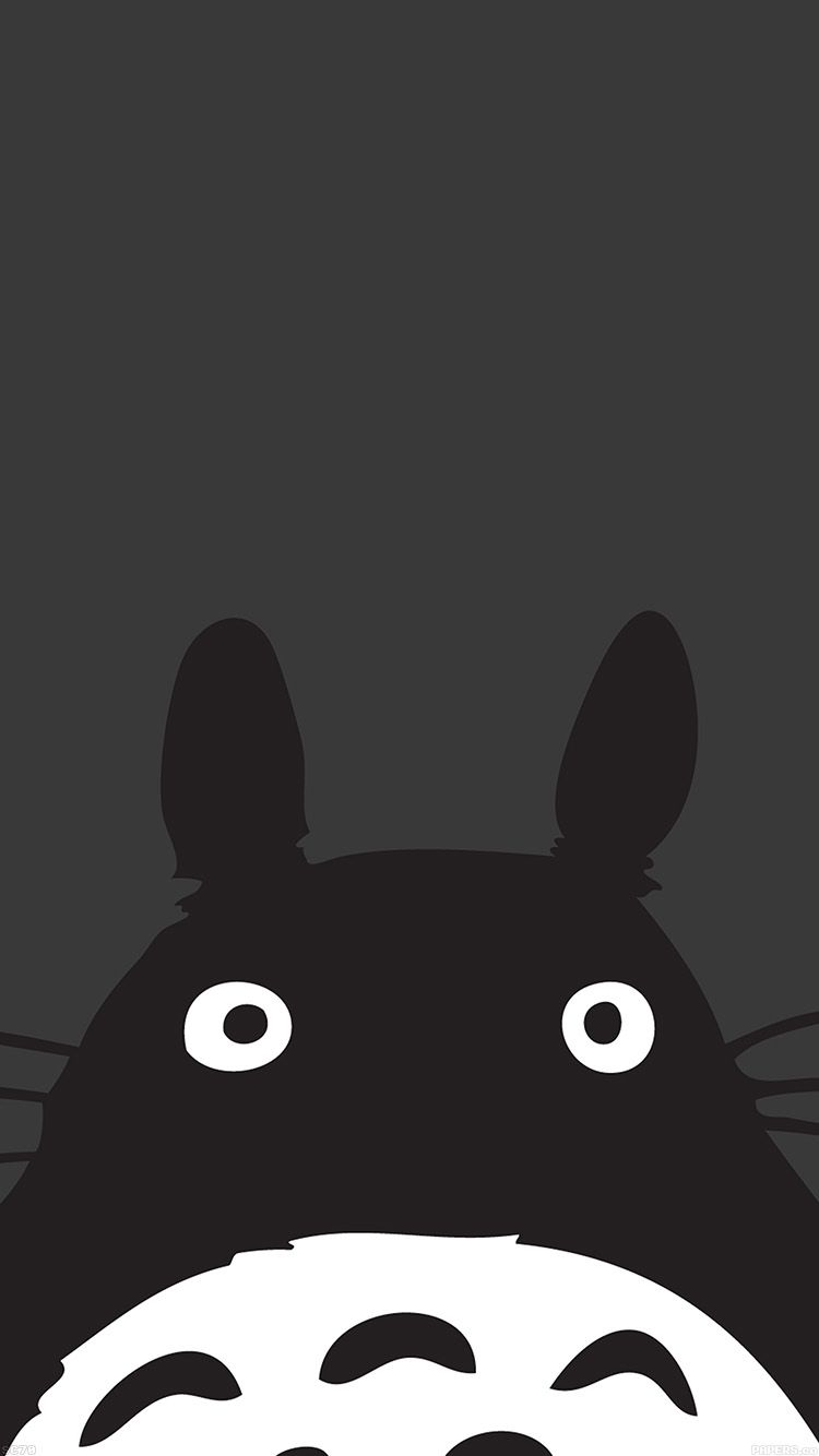 Tap And Get The Free App Art Fun Cute Animal Funny Unicolor Black Cool Simple Pretty Hd Iphone 6 Cartoon Wallpaper Hd Cute Black Wallpaper Cartoon Wallpaper