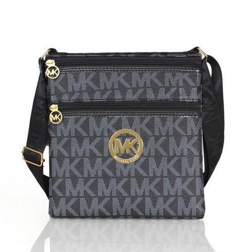 Perfect Michael Kors Logo Signature Large Black Crossbody Bags, Perfect You