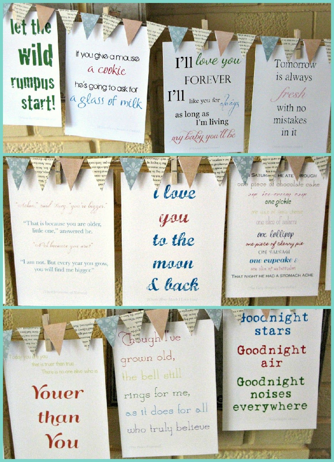 Quotes To Write In Books For Baby: Children's Books Quotes: Can Make A Game To Have Guests
