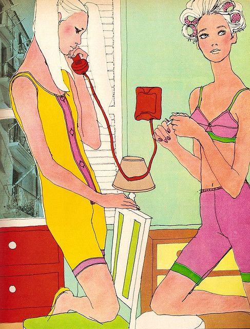 ELLE, may 67. Illustrator: Antonio Lopez