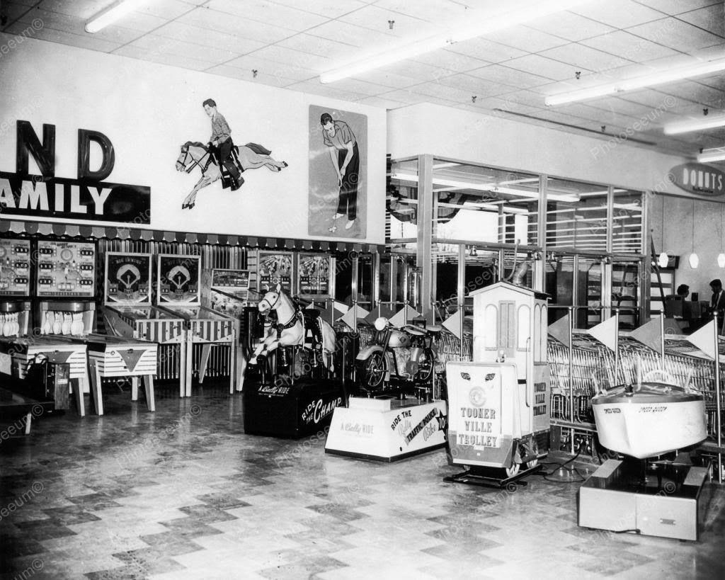 Deptartment Store Amusement Arcade 1960s 8x10 Reprint Of