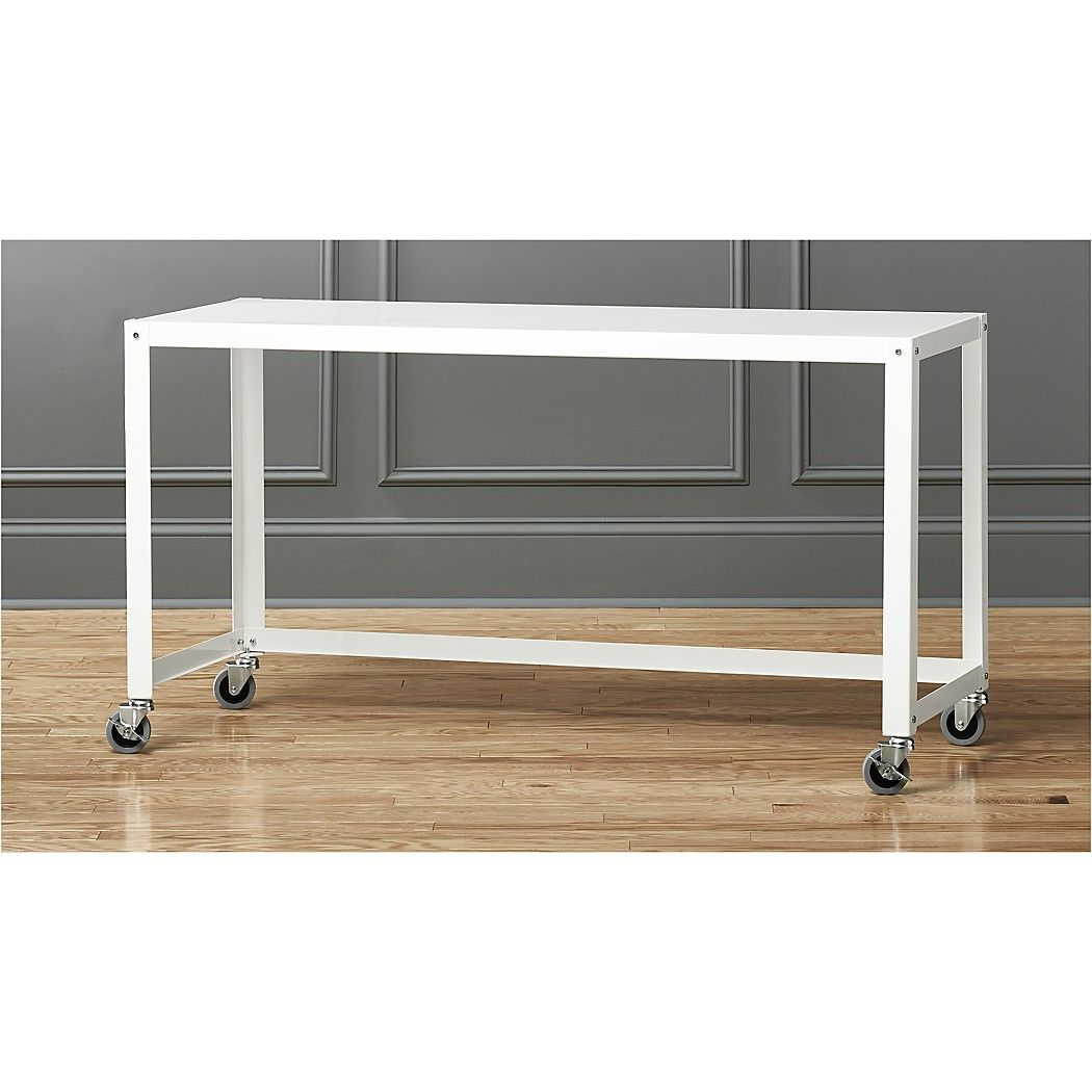 Go Cart White Rolling Console Table Reviews Rolling