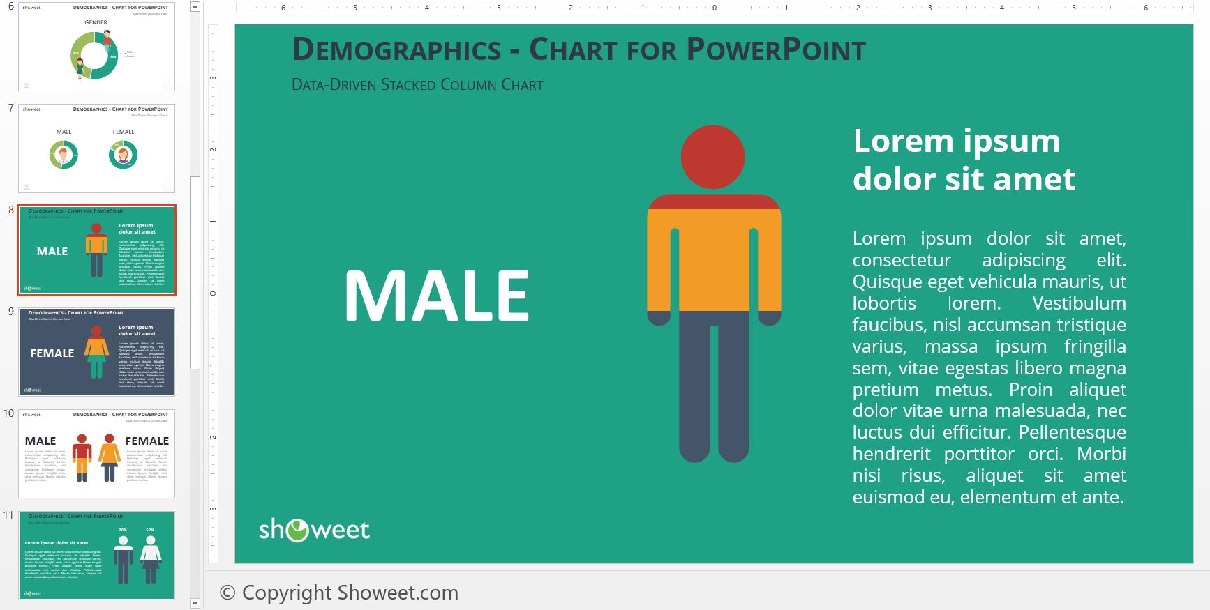 Infografía Demográfica para PowerPoint y Keynote | Pinterest ...