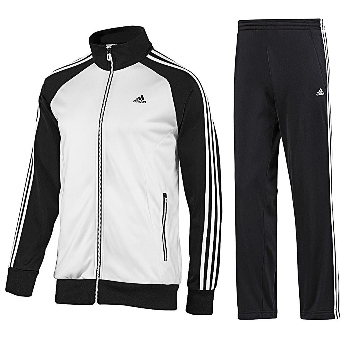 579270ae1b952 Adidas Mens Tracksuit JogSuit 3S Riberio Retro Black/White Navy/Red ...