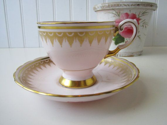 Vintage Tuscan Pink Gold Fine English Bone China Teacup
