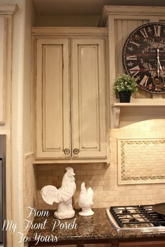 Creating A French Country Kitchen Cabinet Finish Using Chalk Paint French Country Kitchen Cabinets Country Kitchen Cabinets Chalk Paint Kitchen