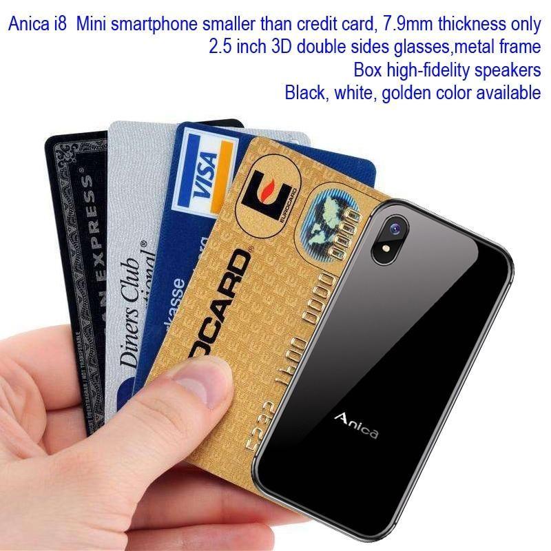 Anica Mini Smartphone New Unlocked 2 Sim Gsm Wcdma Android