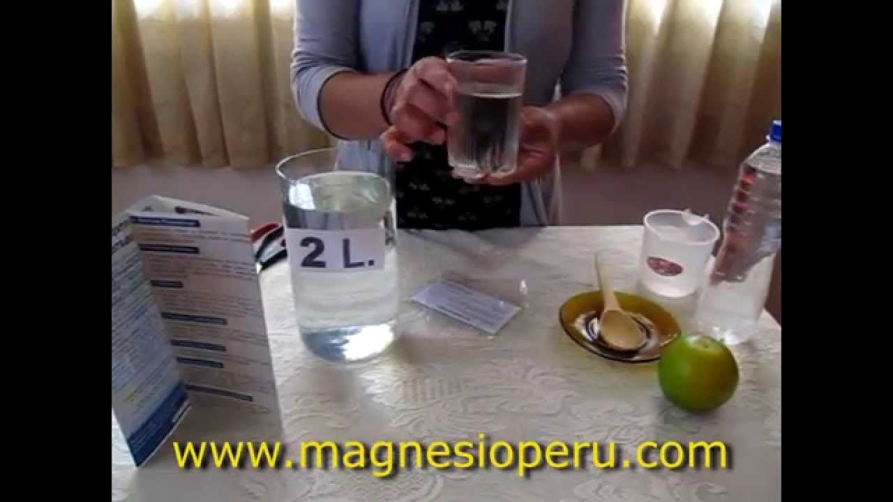 Cloruro de Magnesio: Preparación y cómo tomar