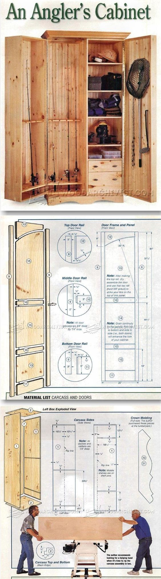 Fishing Rod Cabinet Plans   Furniture Plans And Projects   Woodwork,  Woodworking, Woodworking Plans, Woodworking Projects