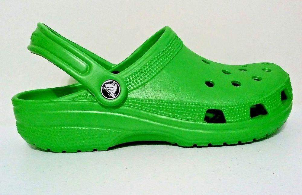 d9c6c94fe818a1 CROCS Classic Cayman Lime Green Sandals Clogs Size Womans 9   Mens 7 Unisex  Clog