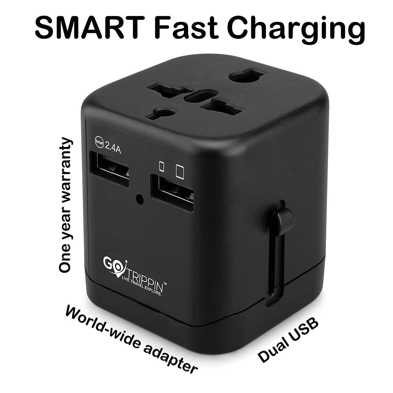 Universal International World Wide Multi Travel Plug Charger Adapter 1 USB PORT