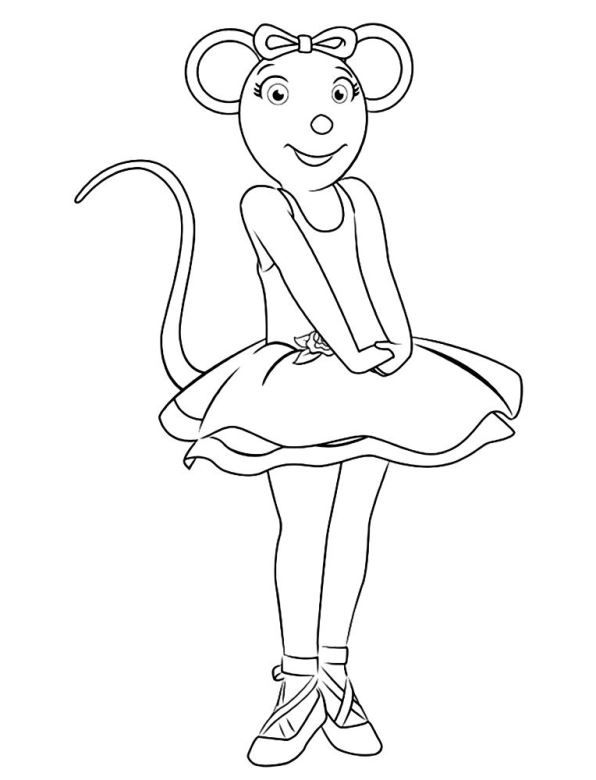 Kids N Fun Kleurplaten Per Beginletter Ballerina Coloring Pages Angelina Ballerina Dance Coloring Pages