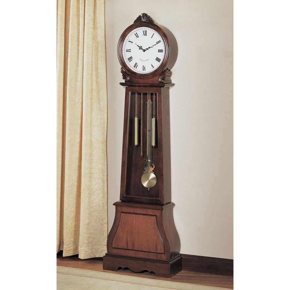 Grandfather Floor Clock With Pendulum Antique Chimes Wood Decoration Free Stand Coaster Grandfather Clock Coaster Furniture Home Furnishings