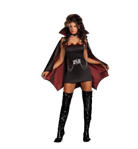 Dreamgirl Women\u0027s Fang Bangin\u0027 Fun Vamp Costume, Not Just for - womens halloween ideas