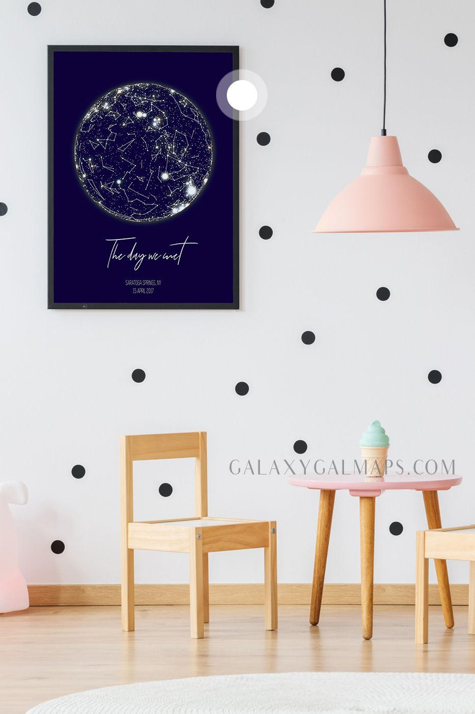 Personalized Star Map Star Chart Wall Art Happily Ever After