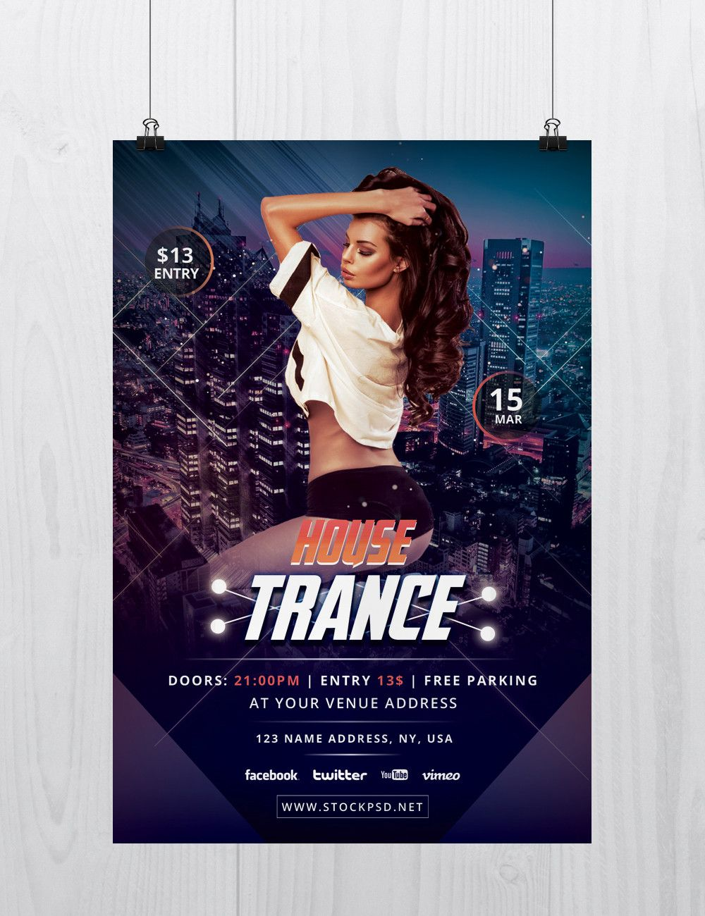 House+Trance+–+Download+Free+PSD+Flyer+Template | art flayers ...